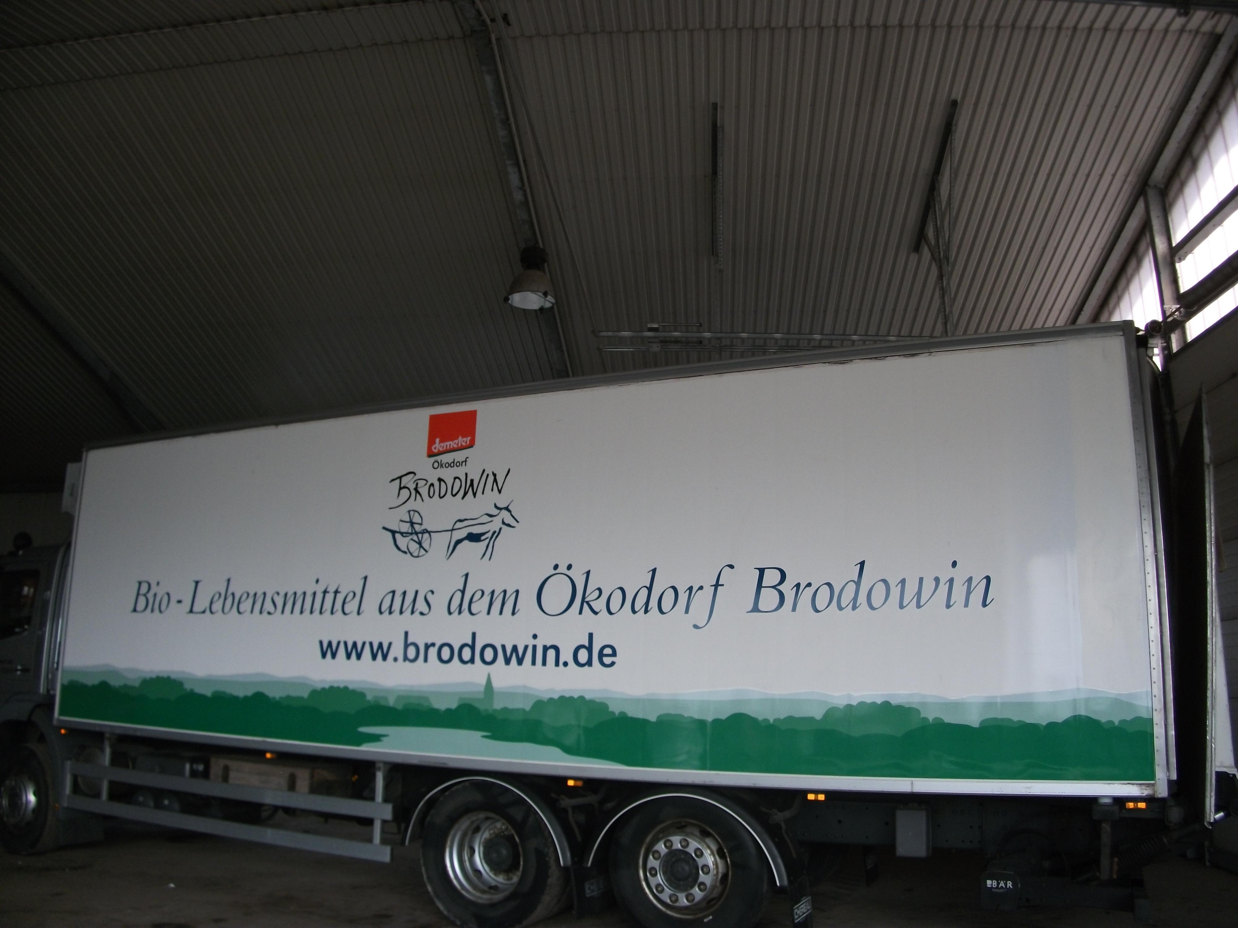 LKW Beschriftung Ökodorf Brodowin